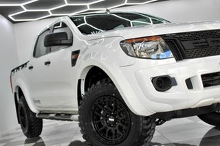 2014 Ford Ranger PX XL 2.2 Hi-Rider (4x2) White 6 Speed Automatic Crew Cab Pickup.