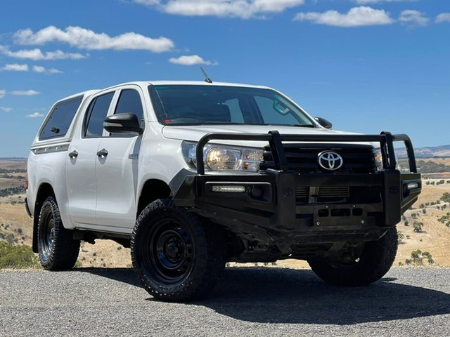 Used Toyota Hilux GUN125R Workmate Double Cab Clare, 2016 Toyota Hilux GUN125R Workmate Double Cab White 6 Speed Manual Utility