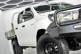 2018 Toyota Hilux GUN125R MY19 Workmate (4x4) White 6 Speed Automatic Double Cab Pick Up.