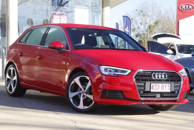 Used Audi A3 8V MY16 Attraction Sportback S Tronic Toowoomba, 2016 Audi A3 8V MY16 Attraction Sportback S Tronic Red 7 Speed Sports Automatic Dual Clutch