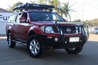 2012 Nissan Navara D40 MY12 ST (4x4) Red 5 Speed Automatic Dual Cab Pick-up.