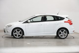 2013 Ford Focus LW MkII Titanium PwrShift White 6 Speed Sports Automatic Dual Clutch Hatchback.