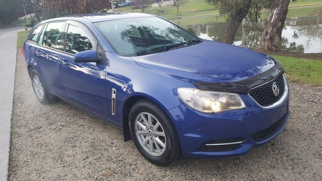 Used Holden Commodore VF II MY16 Evoke Sportwagon Wodonga, 2016 Holden Commodore VF II MY16 Evoke Sportwagon Blue 6 Speed Sports Automatic Wagon