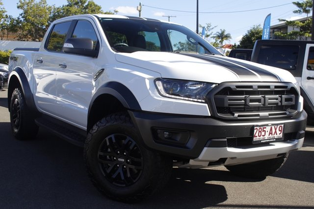 Used Ford Ranger PX MkIII 2019.00MY Raptor Mount Gravatt, 2019 Ford Ranger PX MkIII 2019.00MY Raptor White 10 Speed Sports Automatic Double Cab Pick Up