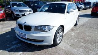 2009 BMW 118i E87 MY09 118i White 6 Speed Automatic Hatchback.