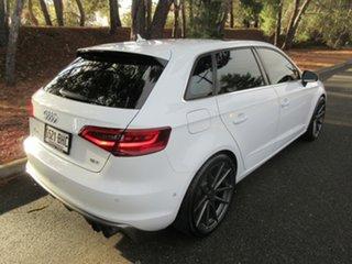 2013 Audi A3 8V Ambition Sportback S Tronic White 7 Speed Sports Automatic Dual Clutch Hatchback.