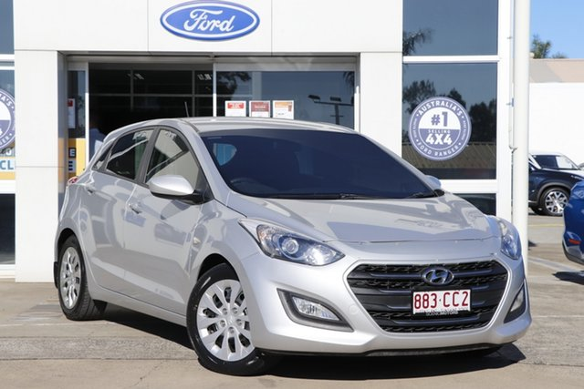 Used Hyundai i30 GD4 Series II MY17 Active Beaudesert, 2016 Hyundai i30 GD4 Series II MY17 Active Platinum Silver 6 Speed Sports Automatic Hatchback