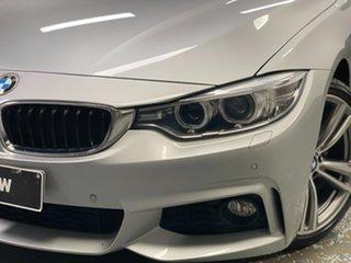 2015 BMW 4 Series F33 428i M Sport Glacier Silver 8 Speed Sports Automatic Convertible.