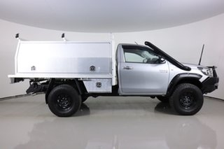 2016 Toyota Hilux GUN126R SR (4x4) Silver 6 Speed Manual Cab Chassis
