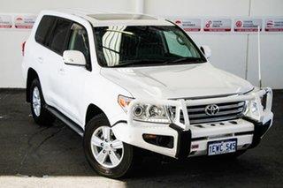 2015 Toyota Landcruiser VDJ200R MY13 VX (4x4) Glacier White 6 Speed Automatic Wagon.