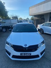 2017 Skoda Octavia NE MY18 RS Sedan DSG 245 White 7 Speed Sports Automatic Dual Clutch Liftback.