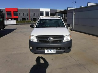 2005 Toyota Hilux TGN16R MY05 Workmate 4x2 White 5 Speed Manual Cab Chassis
