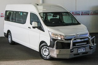 2019 Toyota HiAce GDH322R Commuter High Roof Super LWB French Vanilla 6 Speed Sports Automatic Bus.