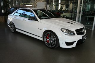 2013 Mercedes-Benz C-Class W204 MY13 C63 AMG SPEEDSHIFT MCT Edition 507 White 7 Speed