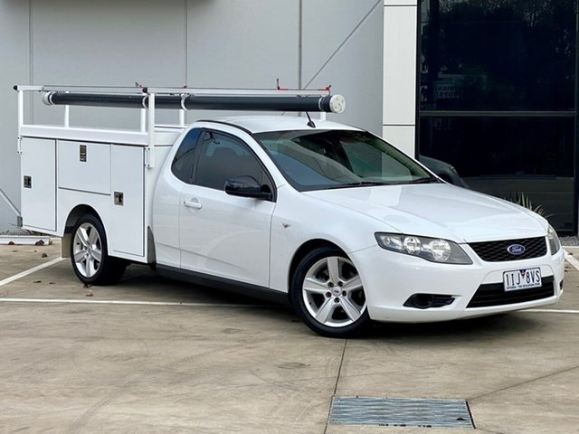 Used Ford Falcon FG Super Cab Templestowe, 2010 Ford Falcon FG Super Cab White 4 Speed Sports Automatic Cab Chassis