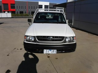 2003 Toyota Hilux RZN149R MY02 4x2 White 5 Speed Manual Cab Chassis