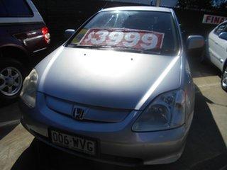 2002 Honda Civic 7th Gen MY2002 VI Silver 5 Speed Manual Hatchback.