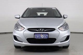 2013 Hyundai Accent RB Active Silver 5 Speed Manual Hatchback.