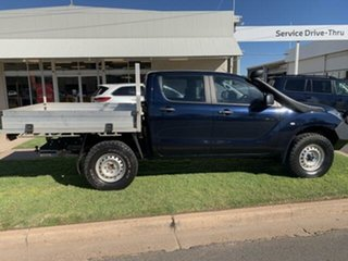 2017 Mazda BT-50 MY16 XT (4x4) Blue 6 Speed Manual Dual Cab Chassis