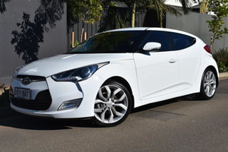 2014 Hyundai Veloster FS2 Coupe D-CT White 6 Speed Sports Automatic Dual Clutch Hatchback.