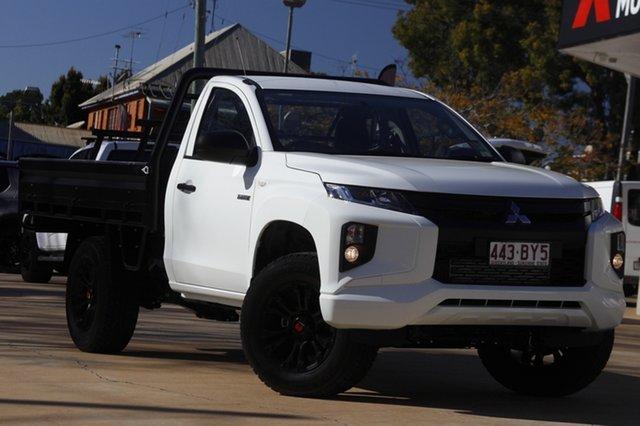 Demo Mitsubishi Triton MR MY21 GLX Toowoomba, 2021 Mitsubishi Triton MR MY21 GLX White 6 Speed Sports Automatic Cab Chassis