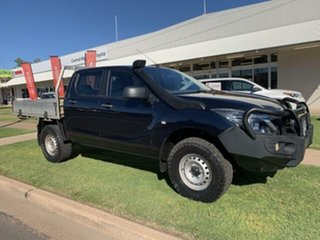 2017 Mazda BT-50 MY16 XT (4x4) Blue 6 Speed Manual Dual Cab Chassis.