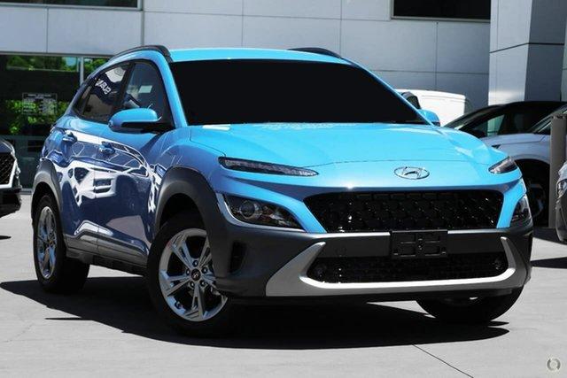 New Hyundai Kona Os.v4 MY21 Elite 2WD Oakleigh, 2021 Hyundai Kona Os.v4 MY21 Elite 2WD Blue 8 Speed Constant Variable Wagon