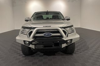2017 Ford Ranger PX MkII XLT Double Cab Silver 6 speed Automatic Utility.