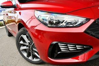 2021 Hyundai i30 PD.V4 MY21 Elite Firey Red 6 Speed Sports Automatic Hatchback.