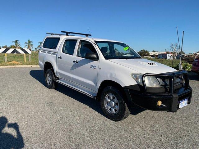 Used Toyota Hilux KUN26R 08 Upgrade SR (4x4) Wangara, 2009 Toyota Hilux KUN26R 08 Upgrade SR (4x4) White 5 Speed Manual Dual Cab Pick-up
