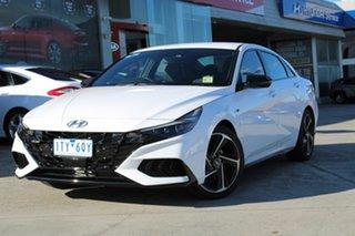 2021 Hyundai i30 CN7.V1 MY21 N Line D-CT White 7 Speed Sports Automatic Dual Clutch Sedan.