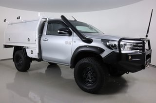 2016 Toyota Hilux GUN126R SR (4x4) Silver 6 Speed Manual Cab Chassis.