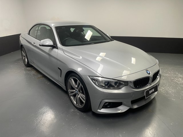 Used BMW 4 Series F33 428i M Sport Newcastle West, 2015 BMW 4 Series F33 428i M Sport Glacier Silver 8 Speed Sports Automatic Convertible