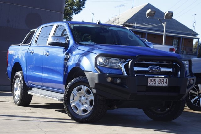 Used Ford Ranger PX MkII 2018.00MY XLT Double Cab Toowoomba, 2017 Ford Ranger PX MkII 2018.00MY XLT Double Cab Blue 6 Speed Sports Automatic Utility