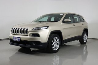 2014 Jeep Cherokee KL Sport (4x2) Champagne 9 Speed Automatic Wagon.