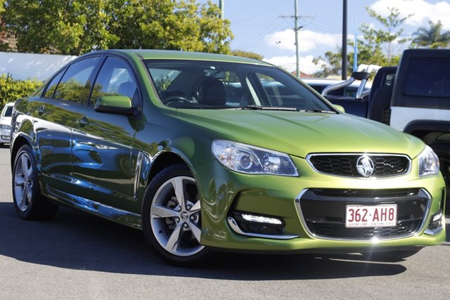 Used Holden Commodore VF II MY16 SV6 Mount Gravatt, 2016 Holden Commodore VF II MY16 SV6 Green 6 Speed Sports Automatic Sedan