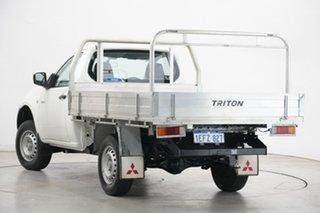 2013 Mitsubishi Triton MN MY13 GL 4x2 White 5 Speed Manual Cab Chassis