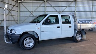 2001 Holden Rodeo TF MY01 LX Crew Cab 4x2 White 4 Speed Automatic Utility.