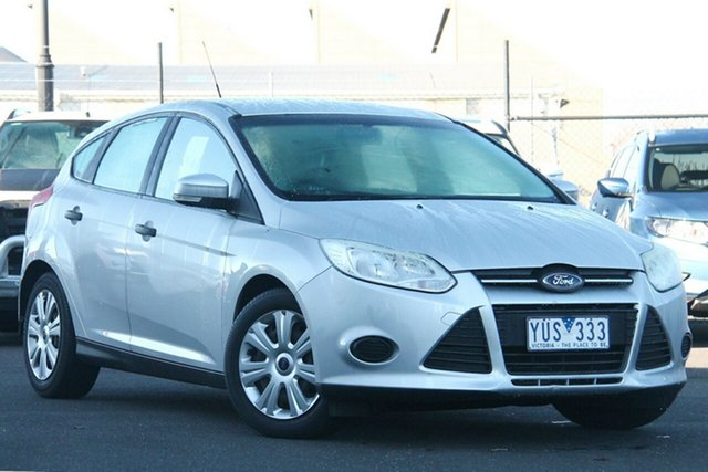 Used Ford Focus LW Ambiente PwrShift Essendon Fields, 2012 Ford Focus LW Ambiente PwrShift Silver, Chrome 6 Speed Sports Automatic Dual Clutch Hatchback