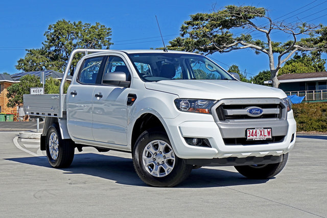 Used Ford Ranger PX MkII XLS Double Cab Capalaba, 2017 Ford Ranger PX MkII XLS Double Cab Frozen White 6 Speed Sports Automatic Utility