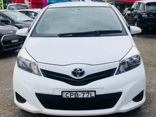 2013 Toyota Yaris NCP130R YR White 4 Speed Automatic Hatchback