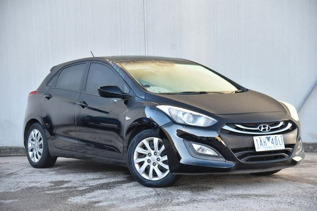 Used Hyundai i30 GD Active Oakleigh, 2013 Hyundai i30 GD Active Black 6 Speed Sports Automatic Hatchback