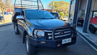 2012 Ford Ranger PX XL 3.2 (4x4) Green 6 Speed Automatic Cab Chassis.