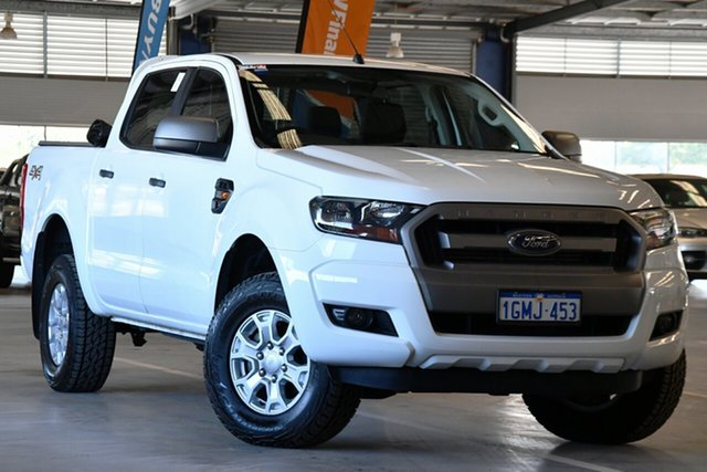 Used Ford Ranger PX MkII 2018.00MY XLS Double Cab Perth Airport, 2018 Ford Ranger PX MkII 2018.00MY XLS Double Cab Cool White 6 Speed Sports Automatic Utility