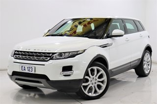 2015 Land Rover Range Rover Evoque L538 MY15 TD4 Pure Tech White 9 Speed Sports Automatic Wagon.