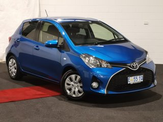 2015 Toyota Yaris NCP131R SX Blue 4 Speed Automatic Hatchback.