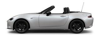 2021 Mazda MX-5 ND SKYACTIV-MT Snowflake White Pearl 6 Speed Manual Roadster.