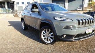 2014 Jeep Cherokee KL Limited (4x4) Grey 9 Speed Automatic Wagon.