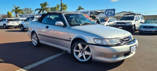 Used Saab 9-3 MY2003 Turbo East Bunbury, 2003 Saab 9-3 MY2003 Turbo Silver 4 Speed Automatic Convertible