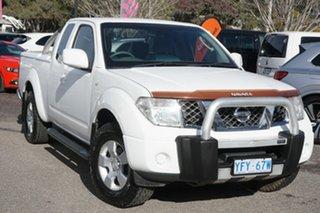 2010 Nissan Navara D40 ST-X King Cab White 6 Speed Manual Utility.